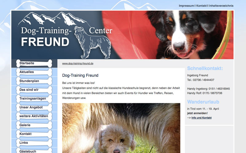 Screenshot Dog-Training-Freund